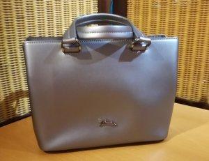 Longchamp Handbag silver-colored-grey leather