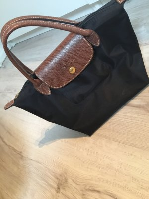 Longchamp Bolso barrel negro-marrón