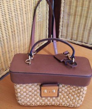 Michael Kors Mini Bag light brown-cream mixture fibre