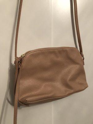 Kleine nudefarbige Handtasche