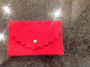 Portemonnee rood-lichtgrijs