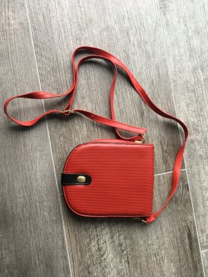 abro Crossbody bag red-black leather