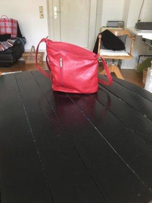 Kleine rote Ledertasche