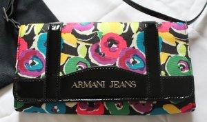Kleine schwarz-bunte Tasche von Armani Jeans