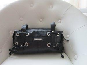 Kleine schwarze Esprit Handtasche aus Leder