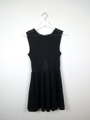 kleine schwarze fishbone sister mini kleid schwarz M 38 40 rückenausschnitt durchsichtig