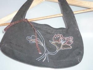 Kleine schwarze Handtasche aus Stoff von Tom Tailor