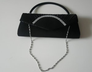 kleine schwarze Handtasche mit Pailetten