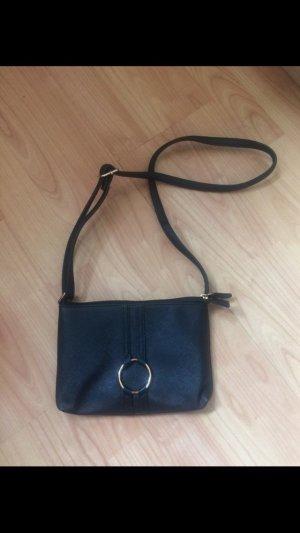 Kleine schwarze Lederhandtasche