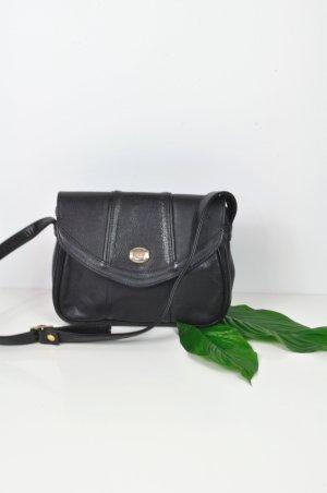 Kleine Schwarze Tasche aus Leder