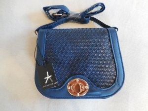 Kleine stahlblaue Tasche mit Animalprint NEU MIT ETIKETT von Primark