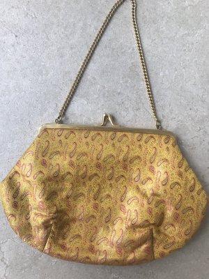 Borsa clutch rosso lampone-giallo-oro