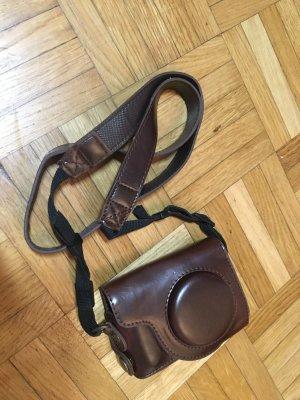 Kleine Tasche für Fotoapparate 10x7 aus Leder