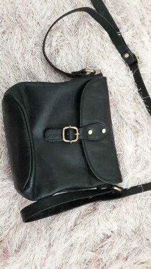 kleine Tasche GIGI schwarz , Echtleder,  schwarz