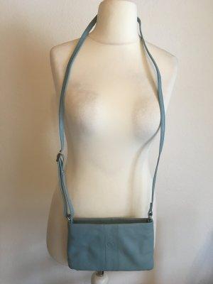 Kleine Tasche Handtasche Umhängetasche hellblau weich NEU