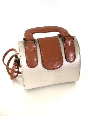 Crossbody bag cream-cognac-coloured