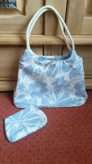 Canvas Bag white-baby blue