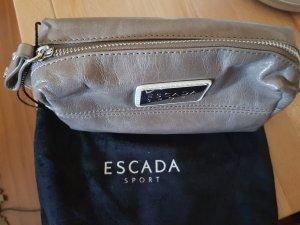 kleine Tasche Kosmetiktasche von Escada Leder taupe Neu