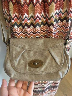 Kleine Tasche Umhängetasche Handtasche beige used-look S.Oliver