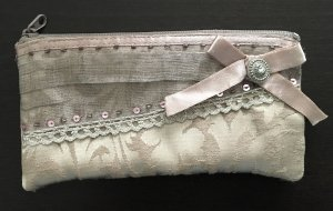 Accessorize Clutch dusky pink-silver-colored polyester