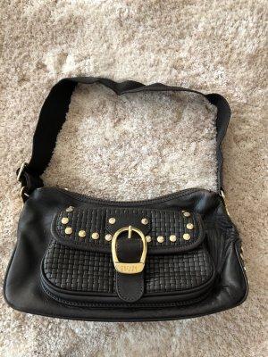 Kleine Tasche von Escada Sport in dunkelbraun mit goldfarbenen Nieten // auch in schwarz verfügbar