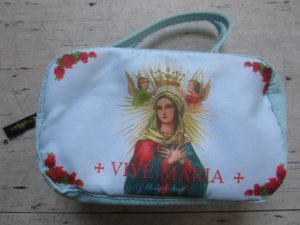 Vive Maria Mini Bag baby blue-red polyester