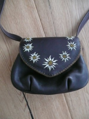 Mini Bag dark brown leather
