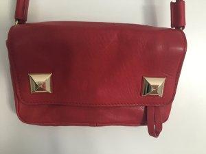 Kleine Umhängetasche aus rotem Leder