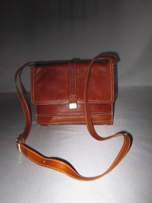 Assima Crossbody bag cognac-coloured leather