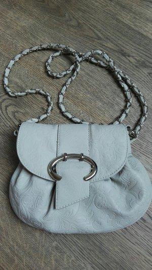 Kleine Umhängetasche grau silber