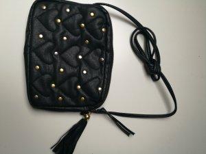 Crossbody bag black-gold-colored