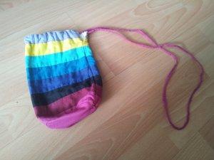 kleiner Beutel Tasche bunt Streifen Regenbogen geringelt