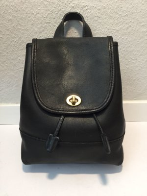 Coach Backpack black leather
