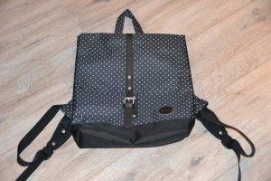Backpack white-dark blue polyester