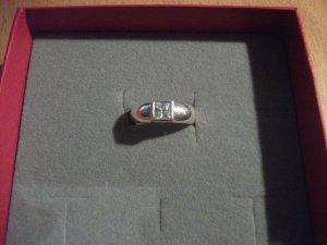 kleiner Ring mit Zirkonia, Ø 15 mm, echt 925 Silber