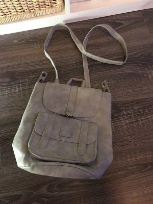 School Backpack grey-light grey