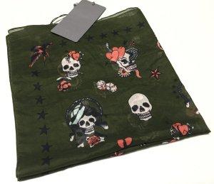 Kleines Halstuch mit Totenkopf-Print von MCQ Alexander McQueen