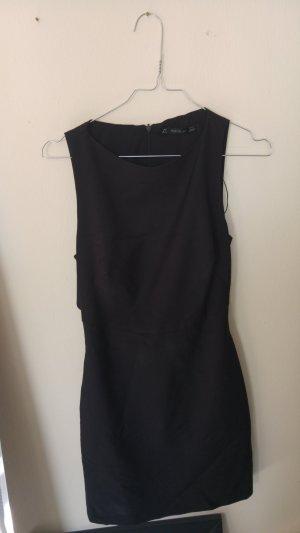 Zara Mini-jurk zwart Gemengd weefsel