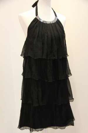 Be Lounged Evening Dress black-silver-colored silk