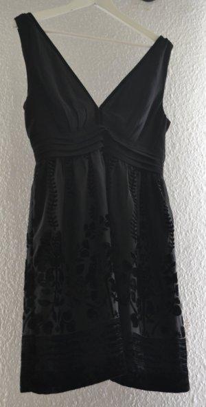 Kleines Schwarzes Ausbrenner Kleid von H&M Concious Collection Samt