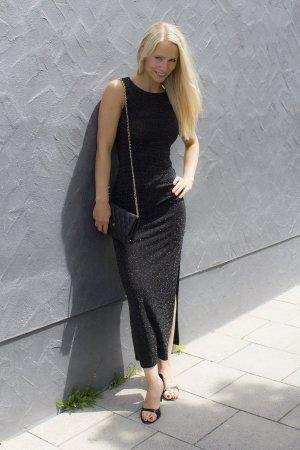 Midi-jurk zwart Lycra