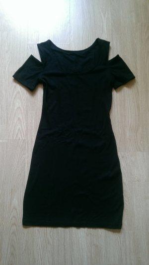 Vestido de tela de jersey negro