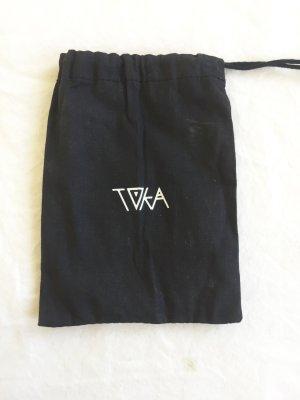 Mini sac noir-blanc coton