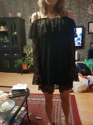 Ashley Brooke Vestido strapless negro