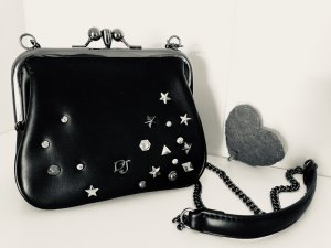 Mini Bag black-silver-colored imitation leather