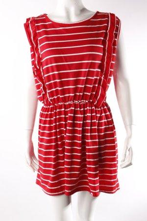Kling Kleid mit Streifen rot