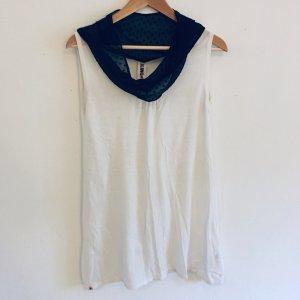 KLING Longshirt mit gepunktetem Kragen XS/S 34/36/38 schwarz weiß creme