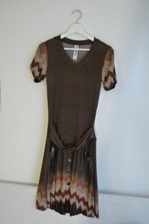 Kling Spain Midikleid Kleid 70s S M 38 40 Hippie Indie Boho Blogger Fashion braun beige