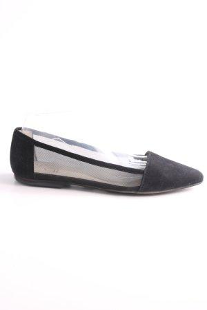 KMB Ballerinas mit Spitze schwarz Business-Look