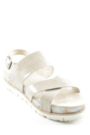KMB Sandalo con plateau beige modello misto similpelle